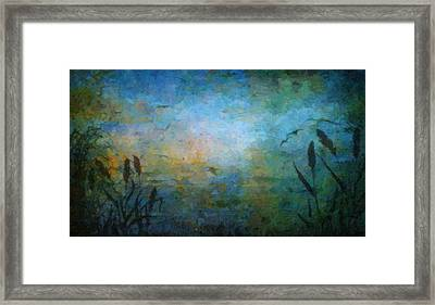 Birds Over The Lake Framed Print
