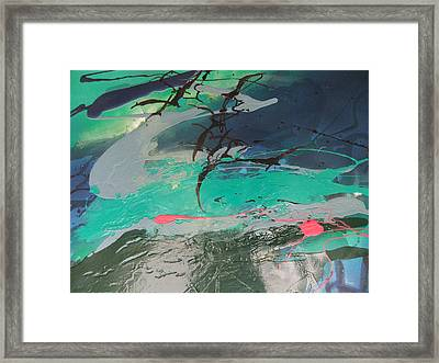 Birds Over The Sea Framed Print by Joyce Garvey