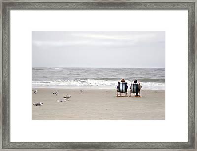 Framed Print featuring the photograph Birds Watching  by John Hix