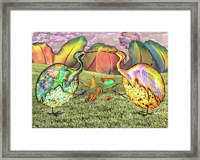 Birds Of Feathers Framed Print