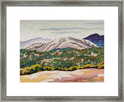 Birdseye Landscape #4 Framed Print by Dale Beckman