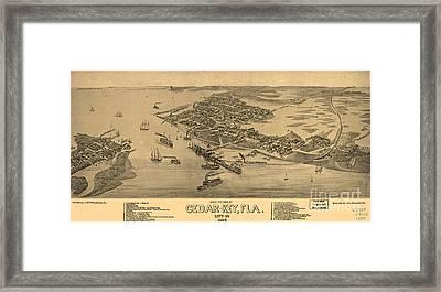 Birdseye View Of Cedar Key, Florida Framed Print