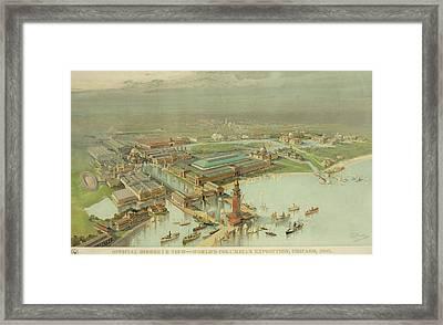 Birdseye View. Worlds Columbian Framed Print
