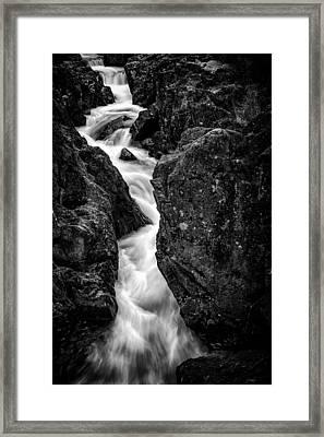 Birks Bridge Mono Framed Print