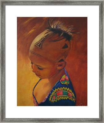 Birmanese Girl Framed Print by Leonor Thornton