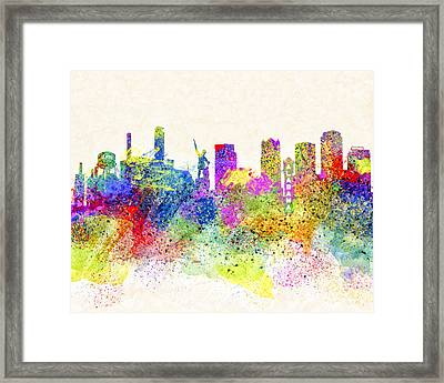 Birmingham Alabama Skyline Art Framed Print