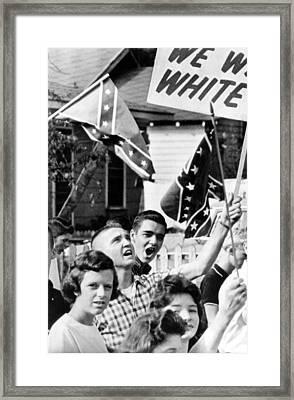 Birmingham, Alabama Students Wave Framed Print