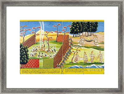 Birth And Life Of The Buddha Framed Print