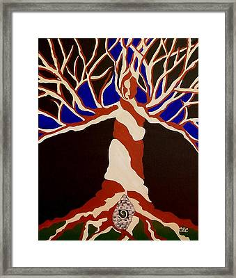 Framed Print featuring the painting Birth by Carolyn Cable