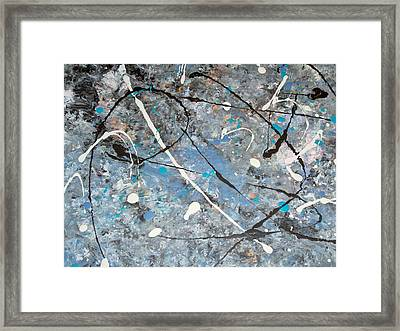 Abstract Birth Framed Print by Micki Rongve