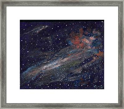 Birth Of A Galaxy Framed Print by Elizabeth Lane