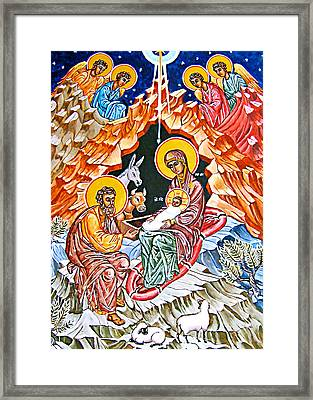 Birth Of Christ Framed Print by Munir Alawi