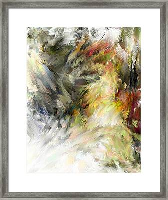 Framed Print featuring the digital art Birth Of Feathers by Dale Stillman