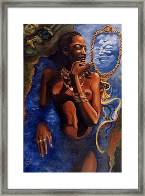 Birth Of Oshun Framed Print by Karmella Haynes