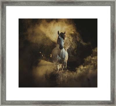 Birth Of Pegasus Framed Print by Ekaterina Druz