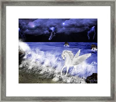 Birth Of Pegasus Framed Print by Tanya Van Gorder