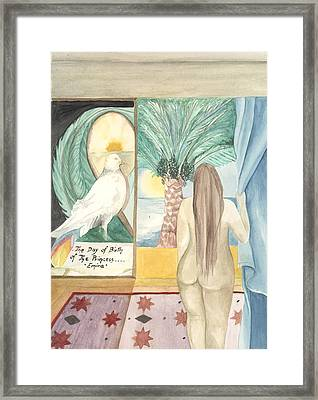 Birth Of Princess Emira Framed Print by Amrei Al-Tobaishi-Jarosch