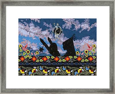 Framed Print featuring the painting Birth Of The Universe by Chholing Taha