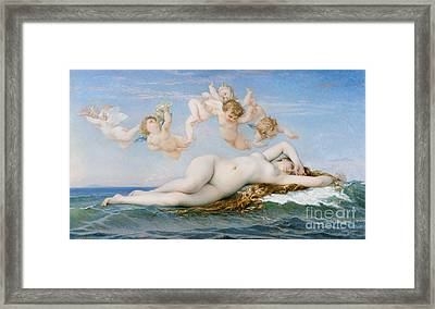 Birth Of Venus Framed Print by Alexandre Cabanel