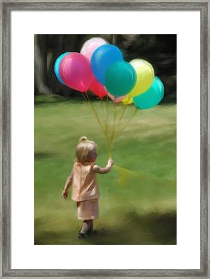 Birthday Balloons Framed Print by Lisa  Westrope