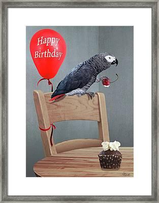 Birthday Bird Card Framed Print