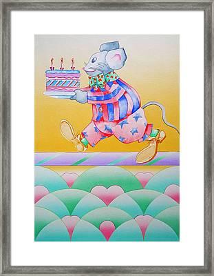 Birthday Cake Framed Print by Virginia Stuart