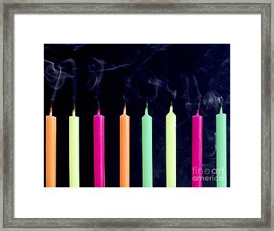 Birthday Candles Framed Print by Diane Diederich