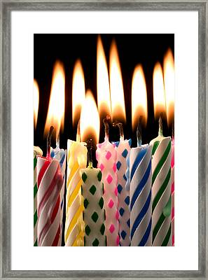 Birthday Candles Framed Print
