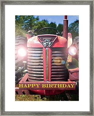 Birthday Card -- Big M-f Framed Print