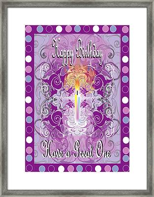 Birthday Card 3 Framed Print by George Pasini