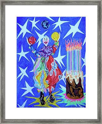 Birthday Clown Framed Print by Robert SORENSEN