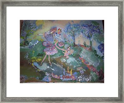 Framed Print featuring the painting Birthday Fairy by Judith Desrosiers