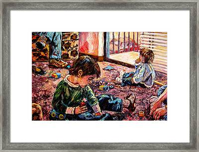 Birthday Party Or A Childs View Framed Print