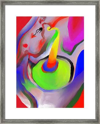 Birthday Surprise Framed Print by Peter Shor