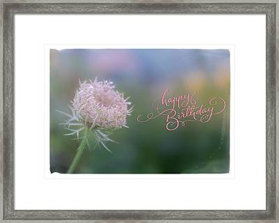 Birthday Wishes Framed Print by June Marie Sobrito