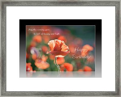 Birthday Wishes Of Beauty And Light Framed Print by Lisa Knechtel