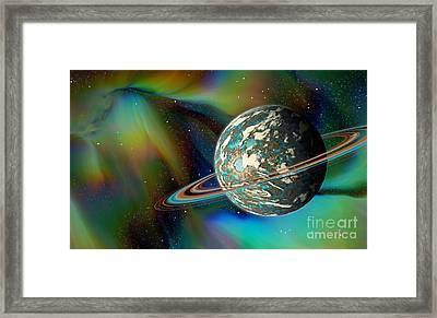 Birthing Planet Framed Print by Curtis Koontz