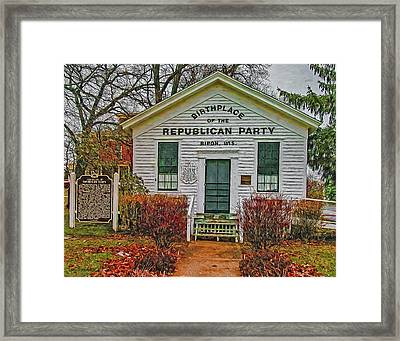 Birthplace Republican Party Framed Print by Trey Foerster
