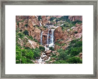 Bisbee's, Escondido Falls, Az.  Framed Print by Robert Visor