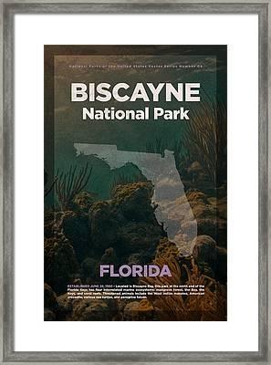 Biscayne National Park In Florida Travel Poster Series Of National Parks Number 05 Framed Print