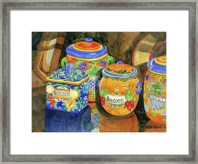 Biscotti Framed Print by Robin Wethe Altman
