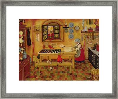 Biscuit Baking Day Framed Print by Ditz