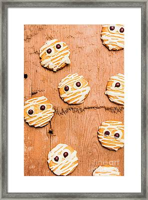 Biscuit Gathering Of Monster Mummies Framed Print