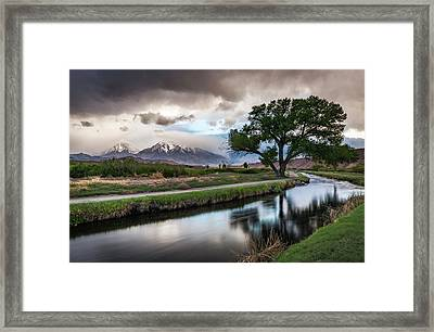 Bishop Canal Framed Print by Cat Connor