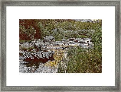 Framed Print featuring the painting Bishop Creek Nightfall by Larry Darnell