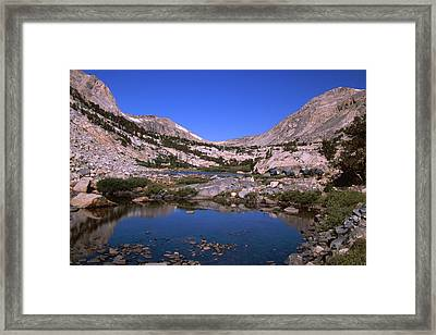 Bishop Pack Outfitters - Piute Pass Trail Framed Print by Soli Deo Gloria Wilderness And Wildlife Photography