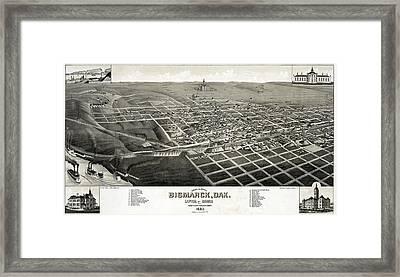 Bismarck, North Dakota, The Capital Framed Print by Everett
