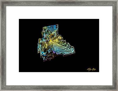 Bismuth Crystal Framed Print