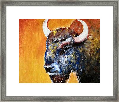 Bison Framed Print by Anastasis  Anastasi