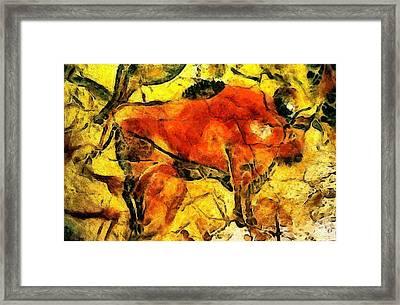 Bison Framed Print by Anton Kalinichev